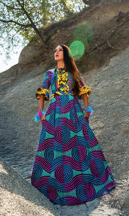 Ingrid Rojc Colección Moda africana